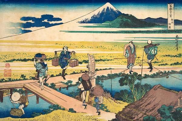 Thirty-six Views Of Mount Fuji Wall Art - Painting - Nakahara In Sagami Province by Katsushika Hokusai