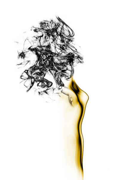 Abstract Smoke Photograph - Naked 2 by Roberto Marini