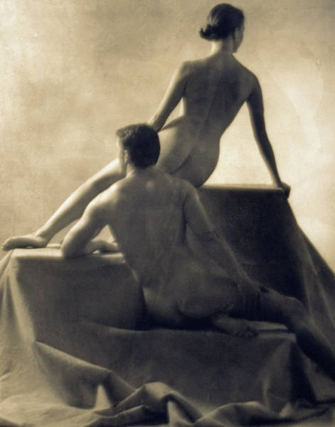 Exposed Photograph - Naked Man And Woman by Martin Riedl/science Photo Library