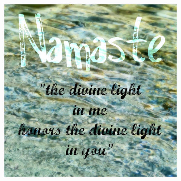 Painting - Namaste With Crystal Waters by Michelle Calkins