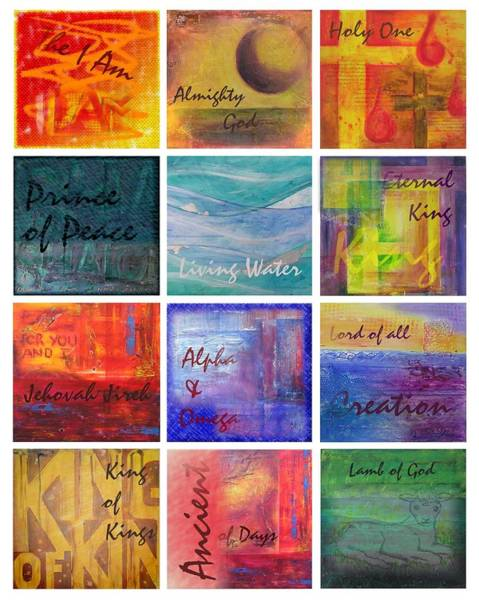 Painting - Names Of God by Jocelyn Friis