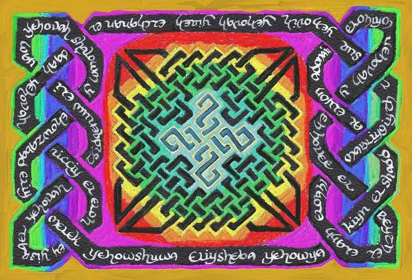 Painting - Names Of Yhwh by Hidden  Mountain