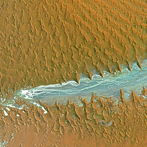 Wall Art - Photograph - Namib Desert by Cnes,2006 Distribution Spot Image/science Photo Library