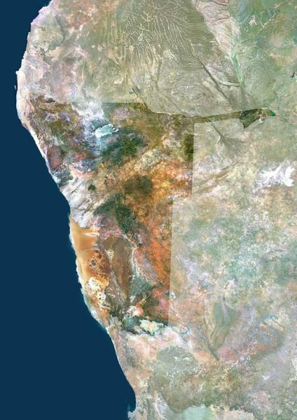 Landsat 7 Wall Art - Photograph - Namibia by Planetobserver/science Photo Library