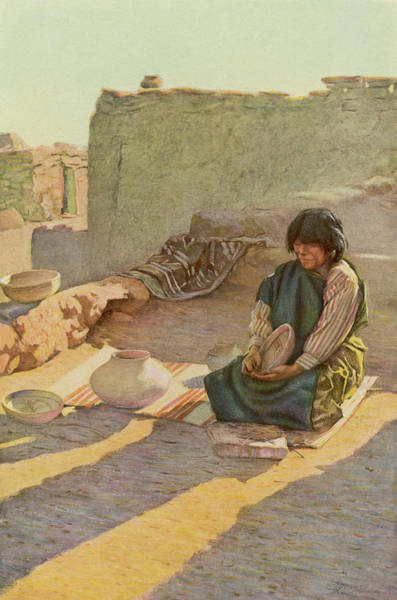 Potters Wheel Wall Art - Drawing - Nampeyo, A Renowned Pot-maker by Mary Evans Picture Library