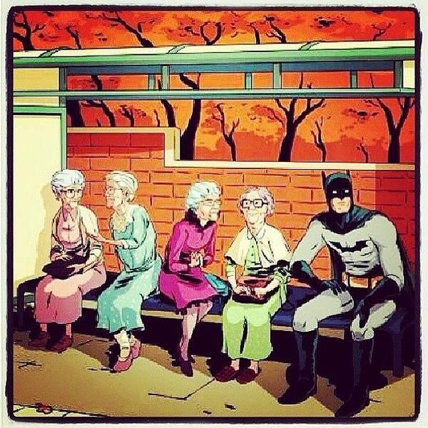 Superhero Wall Art - Photograph - Nana Nana Nana Nana #batman by Nat Lawrence