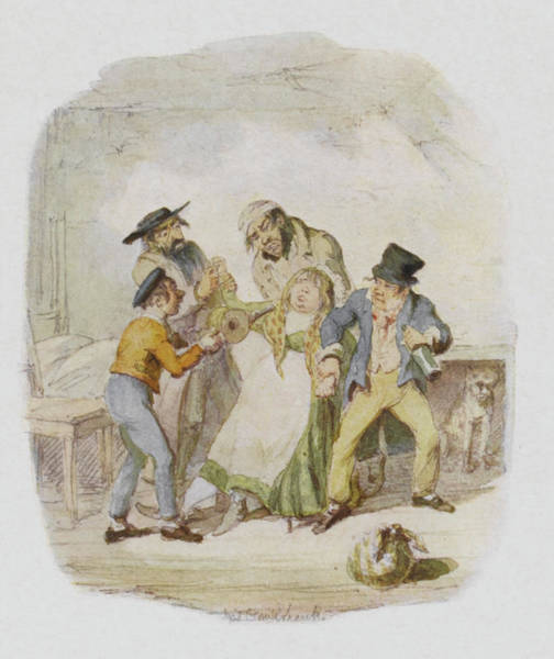 Artful Drawing - Nancy Is Revived By Fagin, The  Artful by Mary Evans Picture Library