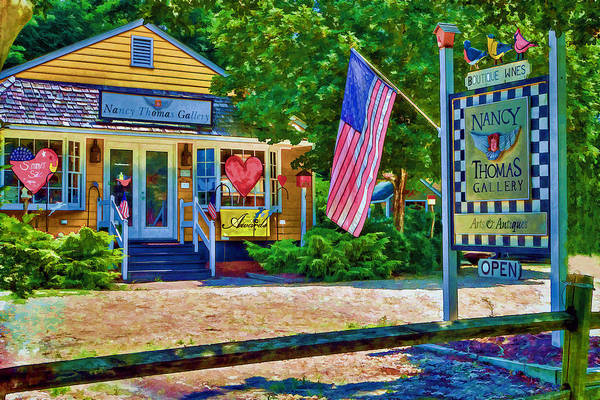 Photograph - Nancy Thomas Shop And Studio by Jerry Gammon