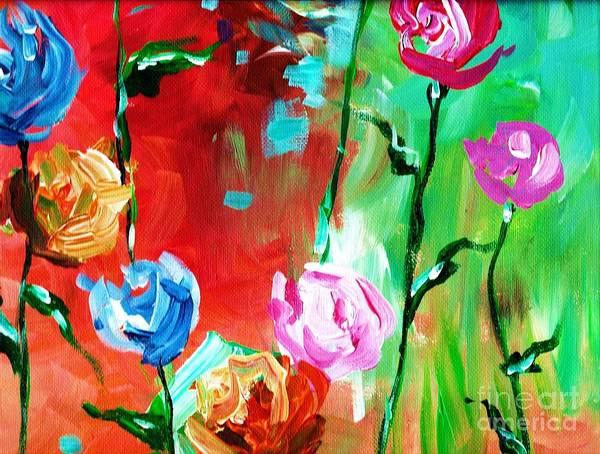 Painting - Nancy's Flowers by Lisa Owen-Lynch
