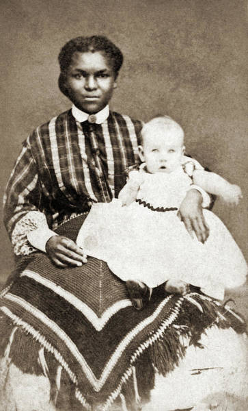 Photograph - Nanny & Child, 1866 by Granger