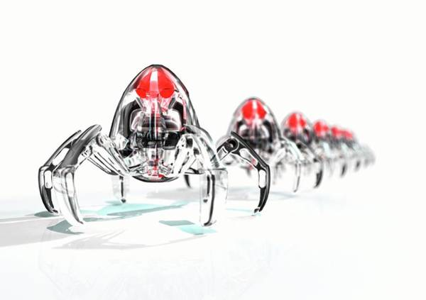 Wall Art - Photograph - Nanorobots by Animate4.comscience Photo Libary