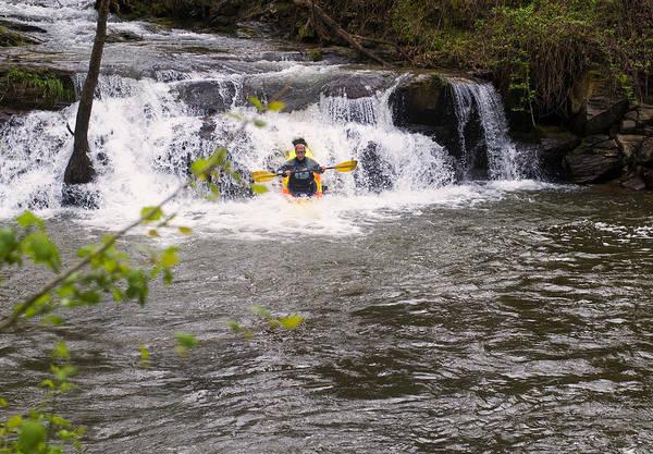 Digital Art - Nantahala River Falls 1 by Chris Flees