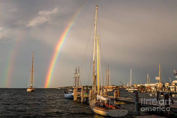 Photograph - Nantucket Double Rainbow by Susan Cole Kelly