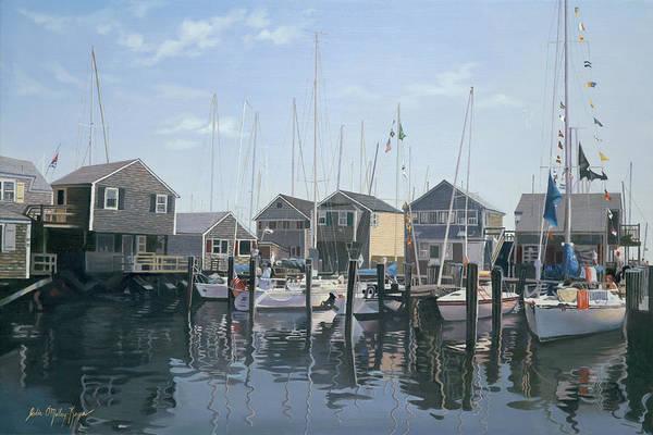Mooring Painting - Nantucket Harbor Meet by Julia O'Malley-Keyes