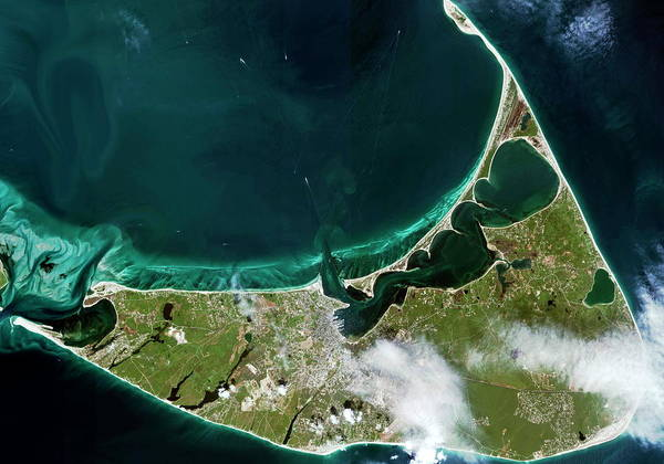 Nantucket Photograph - Nantucket Island by Geoeye/science Photo Library
