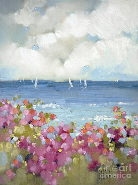 Water Wall Art - Painting - Nantucket Sea Roses by Joyce Hicks