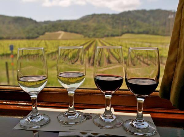 Napa Valley Wine Train Delights Art Print