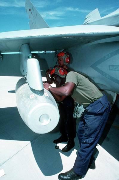 Bomb Photograph - Napalm Bomber by Us Navye