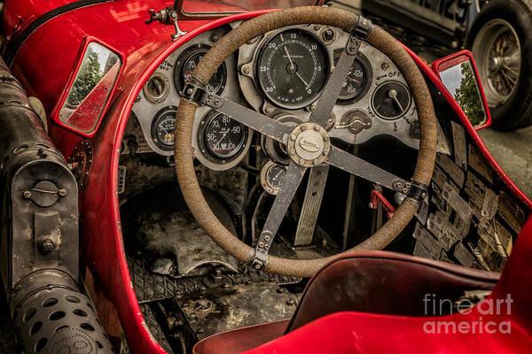 Pedal Car Wall Art - Photograph - Napier Bentley Cockpit  by Adrian Evans