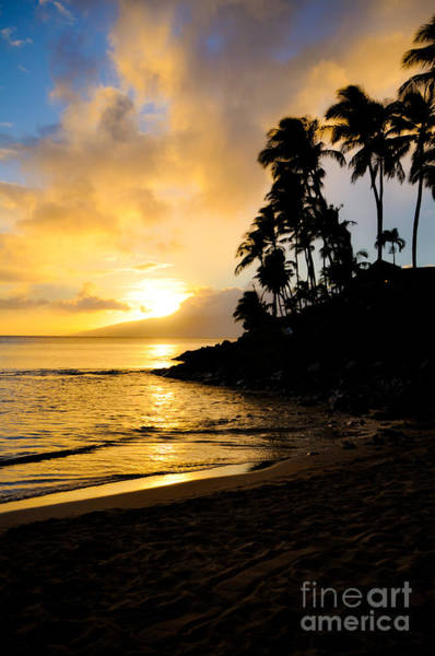 Napili Bay Photograph - Napili Sunset Evening  by Kelly Wade