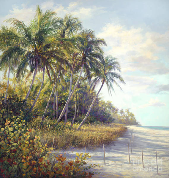 Coconut Tree Painting - Naples Beach Access by Laurie Snow Hein