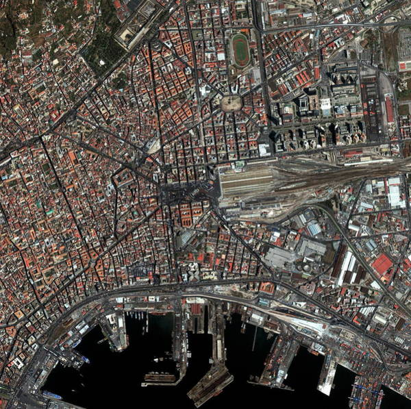 City Centre Photograph - Naples by Geoeye/science Photo Library