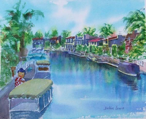 Painting - Naples Island Late Afternoon Impression by Debbie Lewis