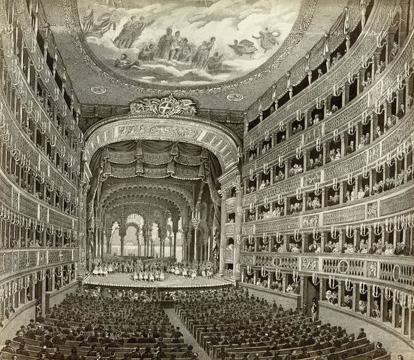 Early 20th Century Drawing - Naples Opera House by Granger