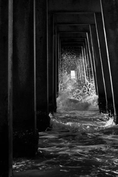 Photograph - Naples Pier In Black And White by Curtis Dale
