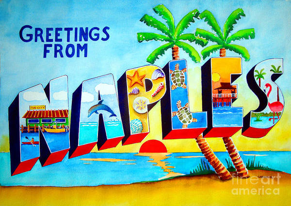Captiva Island Painting - Naples by Terry Gardiner
