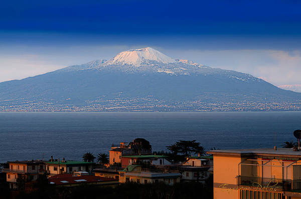 Photograph - Naples Vesuvio Vulcan With Snow by Enrico Pelos