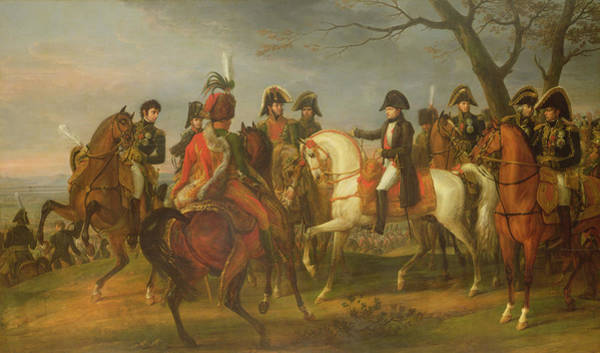 Emperor Photograph - Napoleon 1769-1821 Giving Orders Before The Battle Of Austerlitz, 2nd December 1805, 1808 Oil by Antoine Charles Horace Vernet