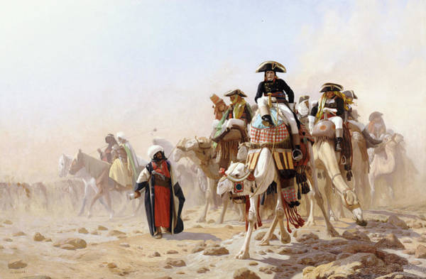 Campaign Painting - Napoleon And His General Staff by Jean Leon Gerome