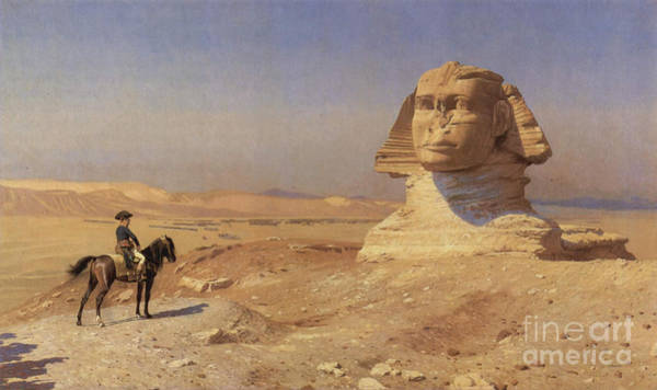 Photograph - Napoleon Bonaparte Before The Sphinx by Photo Researchers