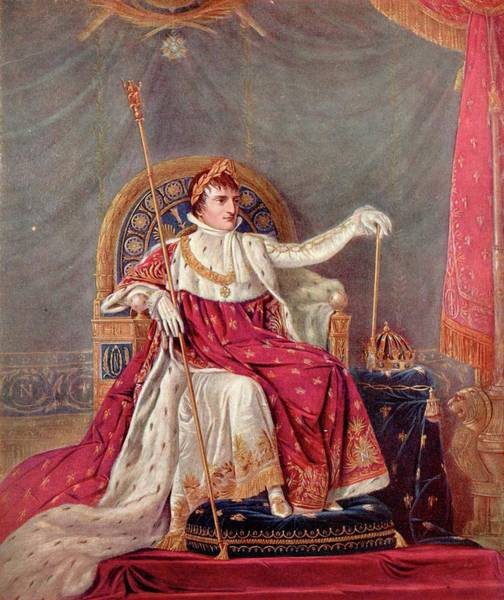 Wall Art - Drawing - Napoleon Bonaparte I  Napoleon As by Mary Evans Picture Library