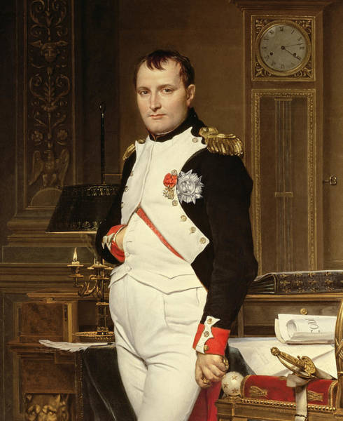 Legion Of Honor Painting - Napoleon Bonaparte In His Study by Jacques Louis David