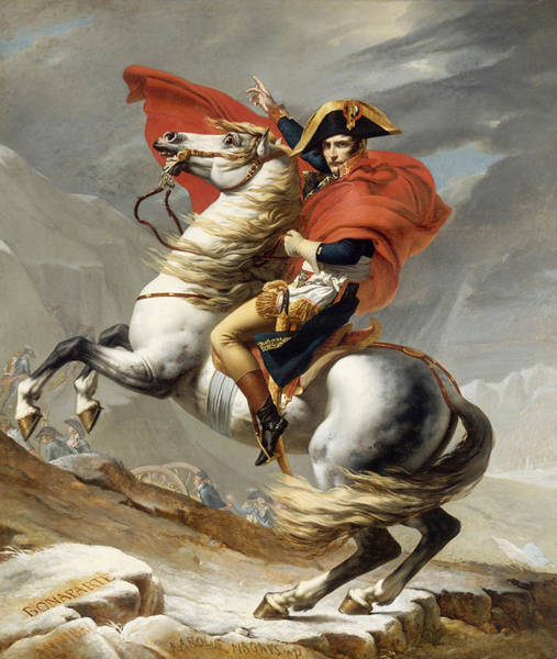 Revolution Wall Art - Painting - Napoleon Bonaparte On Horseback by War Is Hell Store