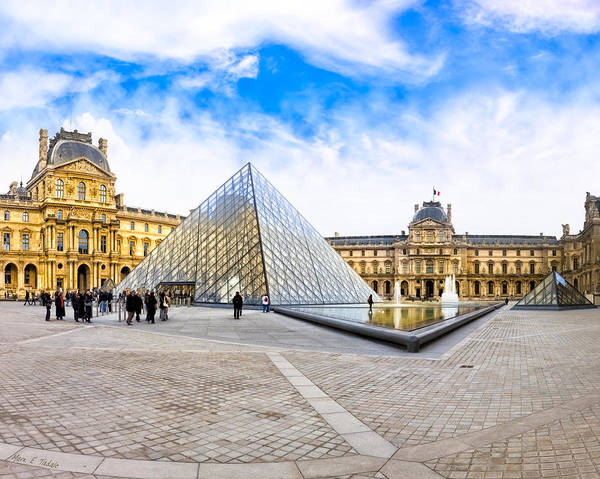 Photograph - Napoleon Courtyard At The Louvre In Paris by Mark E Tisdale