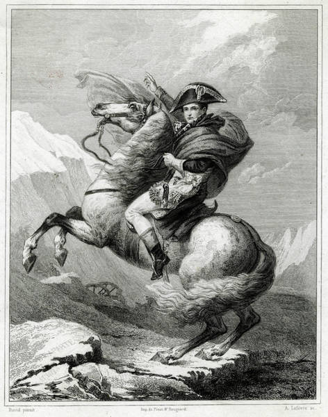 Wall Art - Drawing - Napoleon I Crossing The Saint-bernard by Mary Evans Picture Library