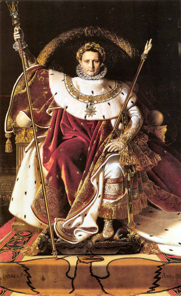 Regal Digital Art - Napoleon I On His Imperial Throne by Jean Auguste Dominique Ingres