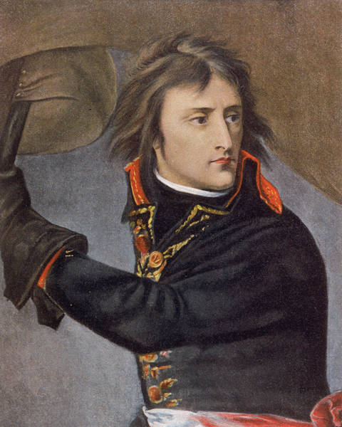 Wall Art - Drawing - Napoleon On The Bridge At  Arcola by Mary Evans Picture Library