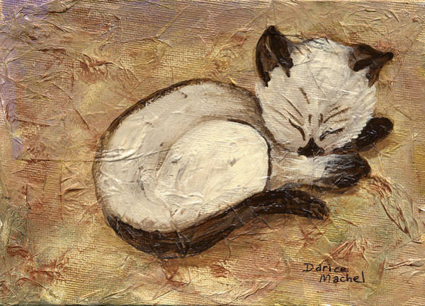 Painting - Napping Kitty by Darice Machel McGuire