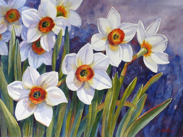 Narcissus Daffodil Flowers Art Print