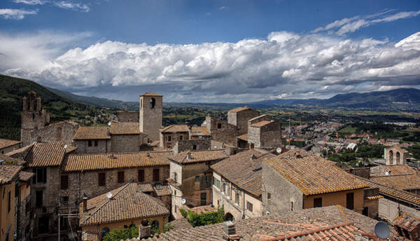 Photograph - Narni Roof Tops by Uri Baruch