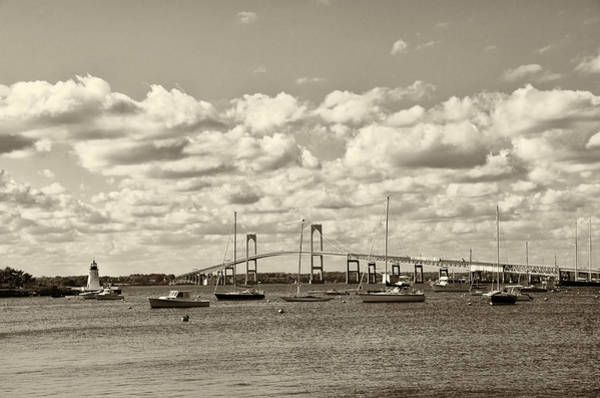 Photograph - Narragansett Bay In Sepia by Bill Cannon