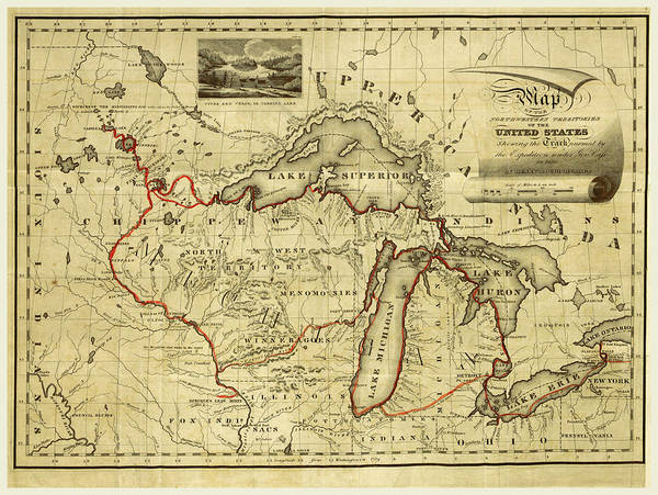 Mississippi River Drawing - Narrative Journal Of Travels, Through The North Western by Litz Collection