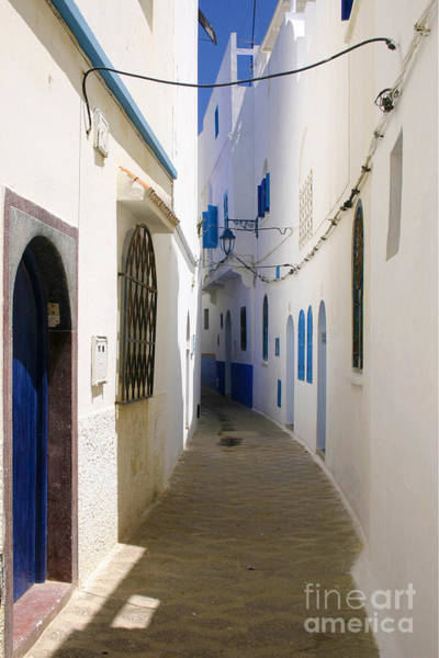 Asilah Wall Art - Photograph - Narrow Backstreet In The Medina Of Asilah On Northwest Tip Of Atlantic Coast Of Morocco by PIXELS  XPOSED Ralph A Ledergerber Photography