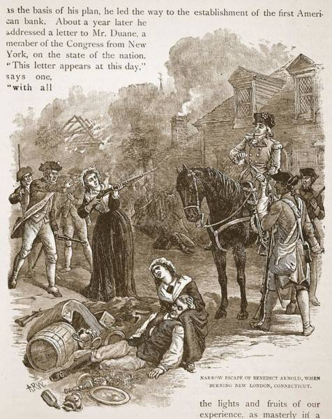 Soldier Drawing - Narrow Escape Of Benedict Arnold, When by Alfred R. Waud