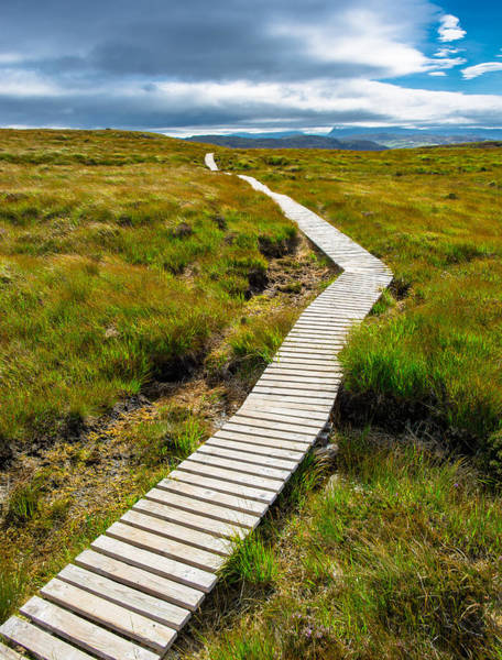 Straight Ahead Wall Art - Photograph - Narrow Path To The Sky by Andreas Berthold
