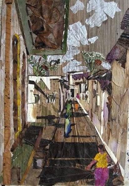 Eco Friendly Mixed Media - Narrow Street by Basant Soni